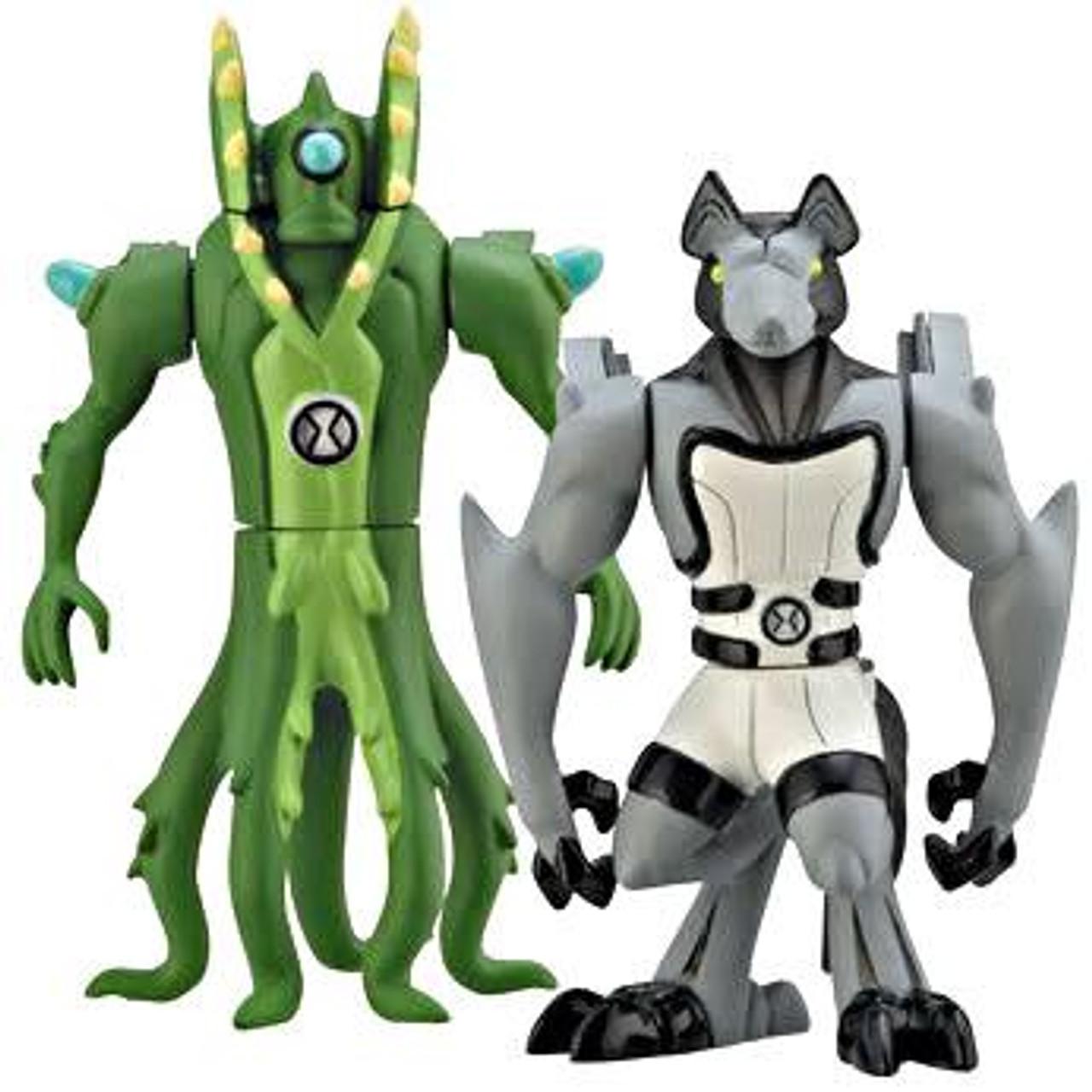 Ben 10 Alien Force Alien Creation Chamber Wildvine & Benwolf Mini Figure 2-Pack