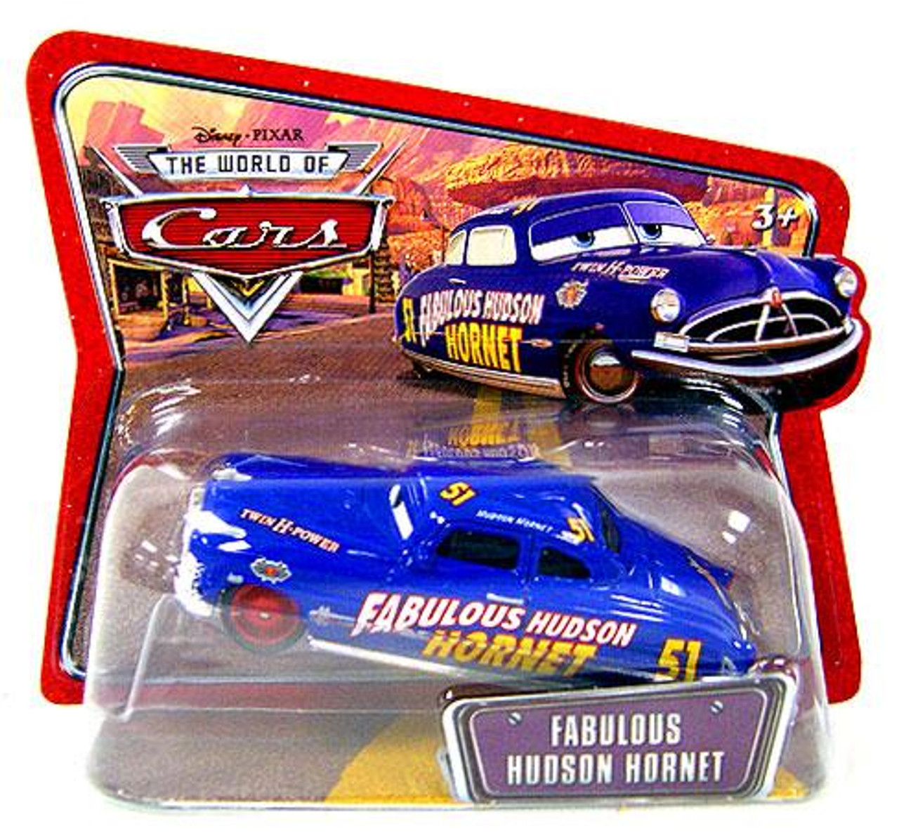 Disney Cars The World of Cars Series 1 Fabulous Husdon Hornet Diecast Car [Checkout Lane Package]