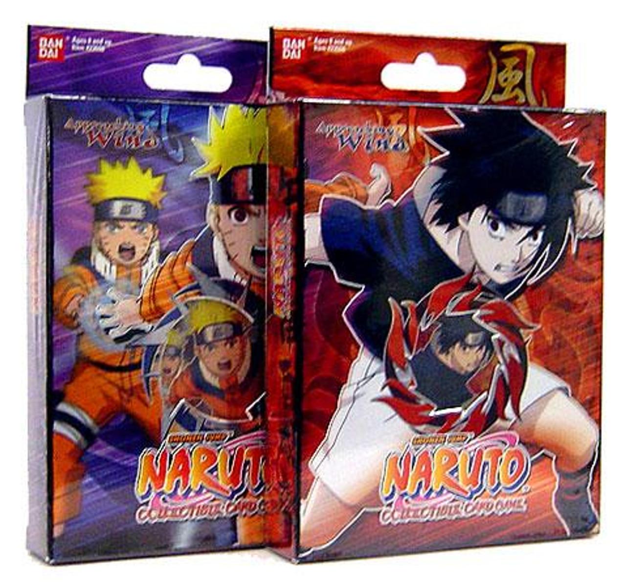 Naruto Card Game Set of Both Approaching Wind Theme Decks