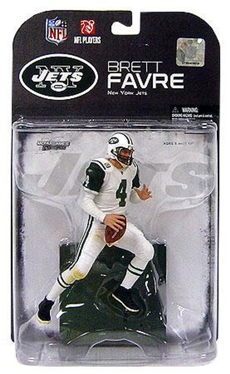 McFarlane Toys NFL New York Jets Sports Picks Series 19 Brett Favre Action Figure [White Jersey]
