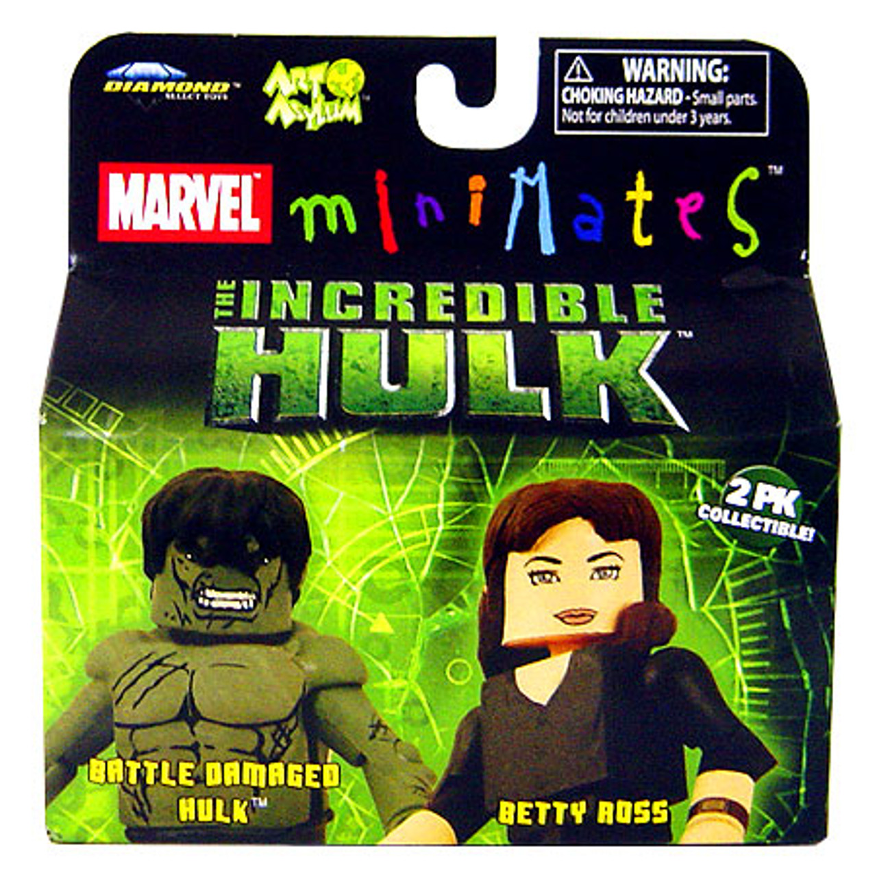 Marvel Minimates The Incredible Hulk Battle Damaged Hulk & Betty Ross Minifigure 2-Pack