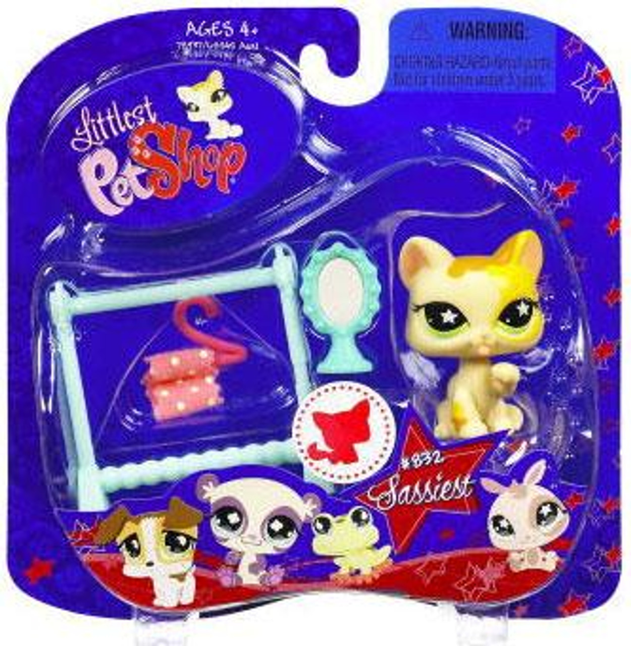 Littlest Pet Shop 2009 Assortment B Series 2 Cat Figure #832 [Clothes Rack & Mirror]