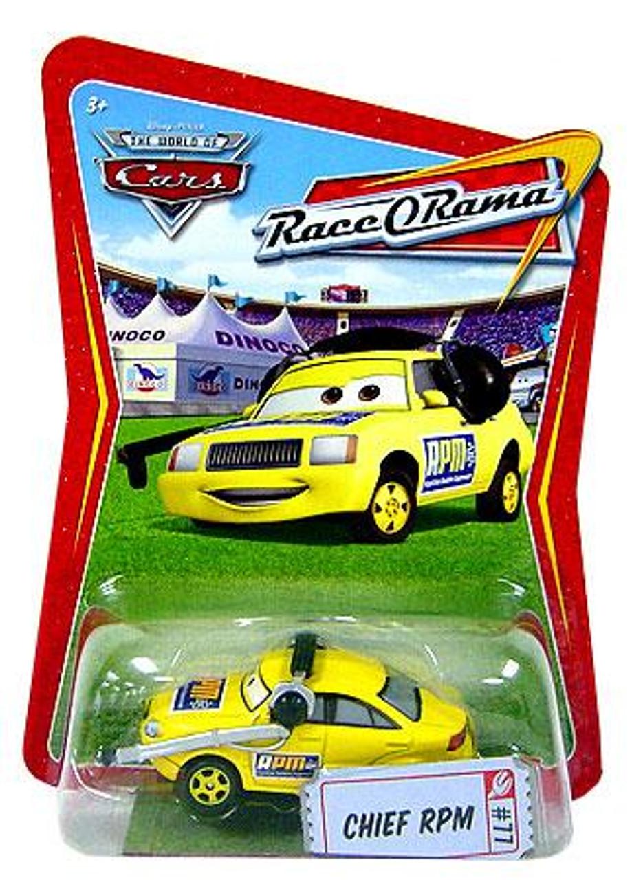 Disney Cars The World of Cars Race-O-Rama Chief RPM Diecast Car #77