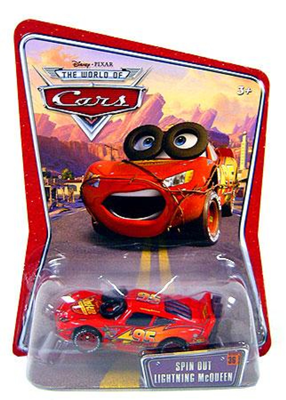 Disney Cars The World of Cars Series 1 Spin Out Lightning McQueen Diecast Car
