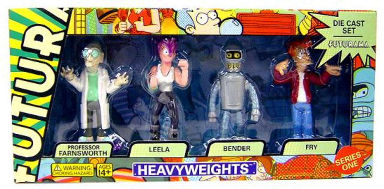 Futurama Heavyweights Diecast Figure Boxed Set