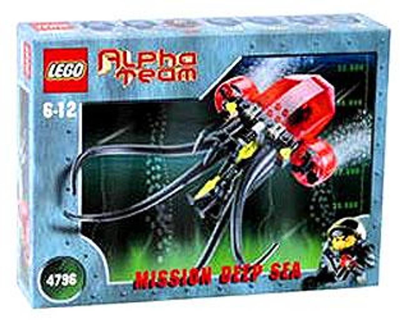 LEGO Alpha Team Mission Deep Sea Ogel Mutant Squid Deep Sea Set #4796