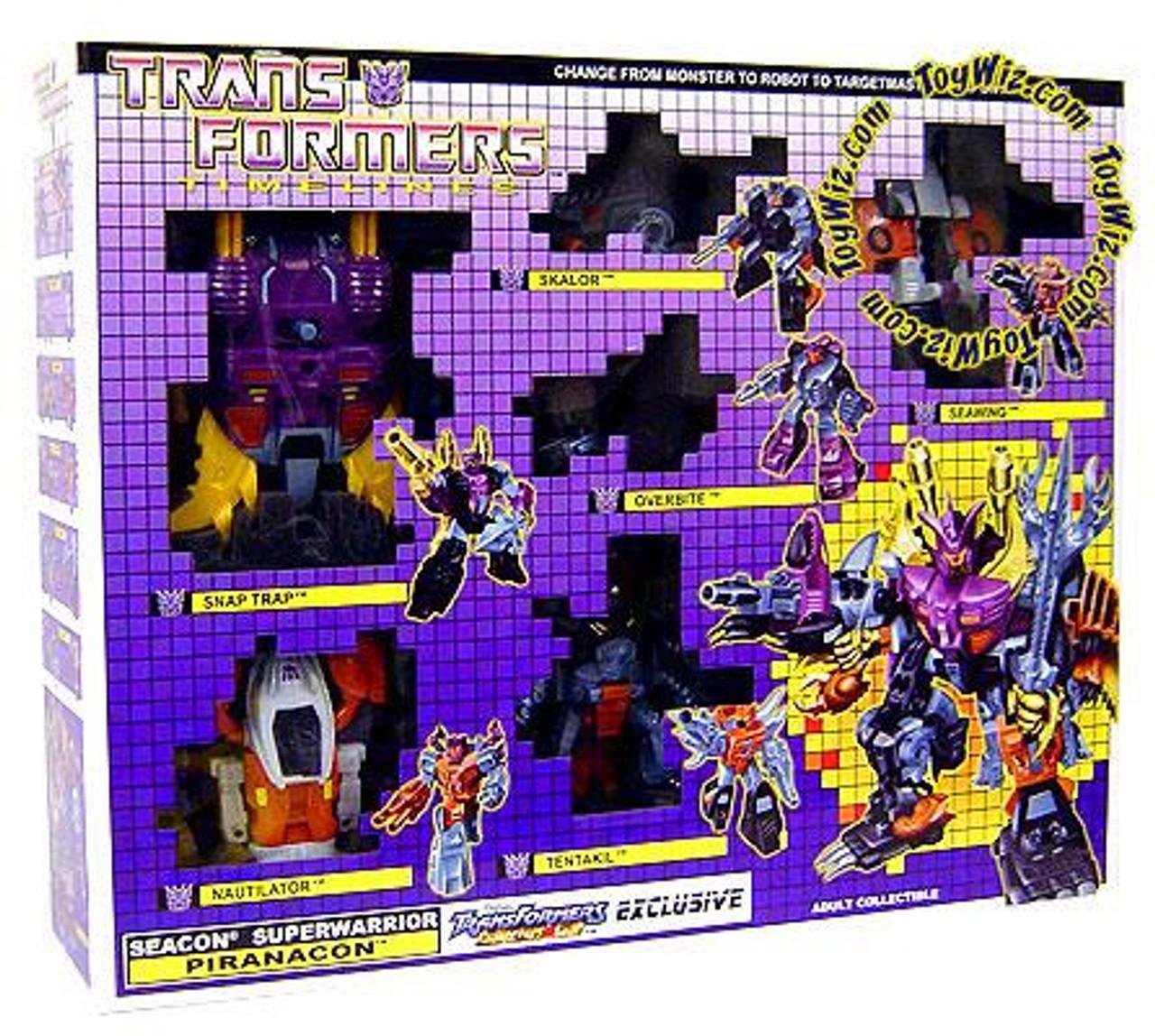 Transformers Timelines Collector's Club Exclusives Seacon Superwarrior Piranacon Exclusive Action Figure Set
