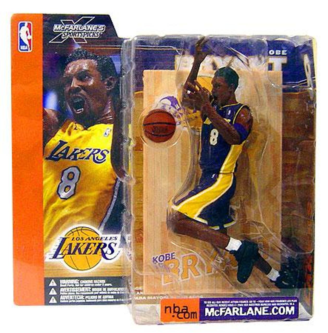 McFarlane Toys NBA Los Angeles Lakers Sports Picks Series 1 Kobe Bryant Action Figure [Purple Jersey Variant]