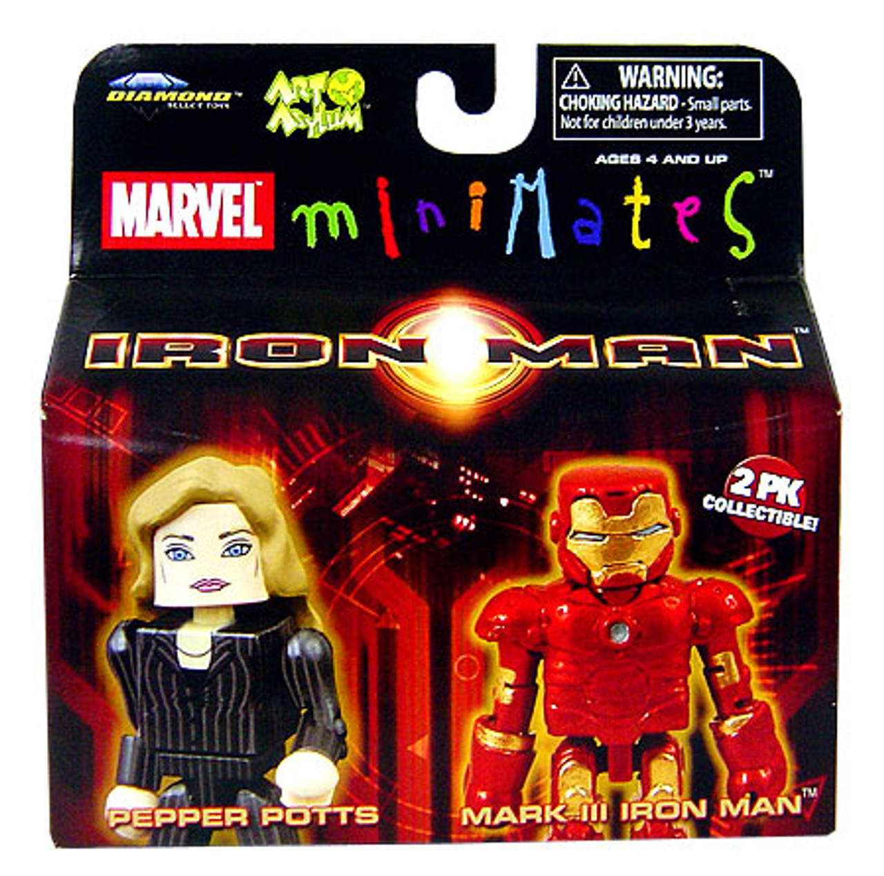 Marvel Minimates Iron Man Movie Pepper Pots & Mark III Iron Man Minifigure 2-Pack