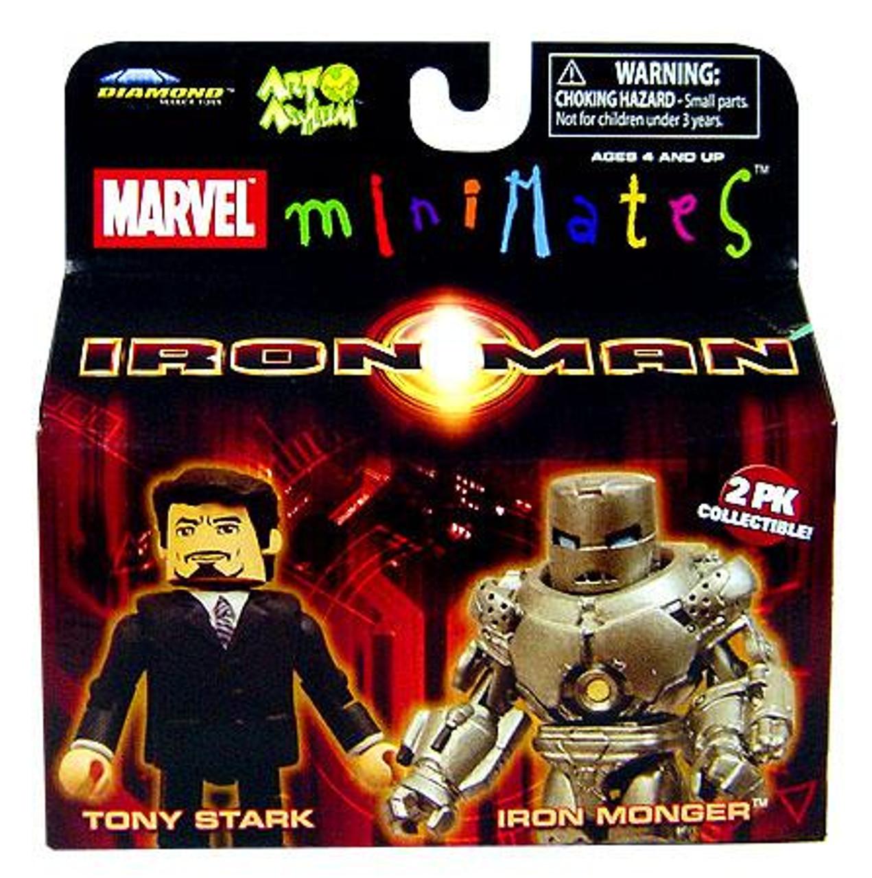 Marvel Minimates Iron Man Movie Tony Stark & Iron Monger Minifigure 2-Pack