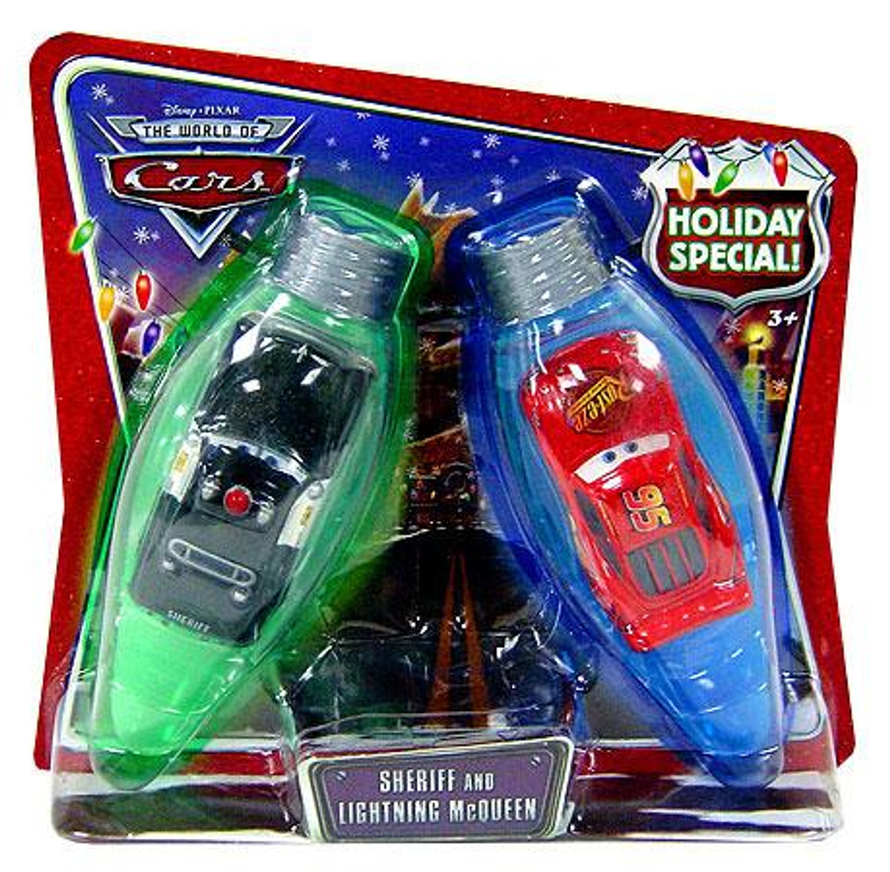 Disney Cars The World of Cars Sheriff & Lightning McQueen Holiday Special Diecast Car 2-Pack