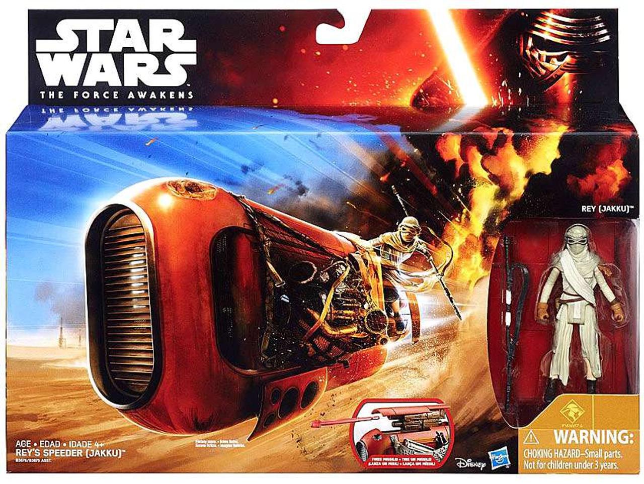 Star Wars The Force Awakens Rey's Speeder (Jakku) with Rey 3.75-Inch Deluxe Vehicle [Class I ]