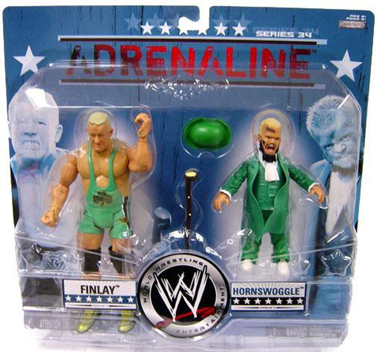 WWE Wrestling Adrenaline Series 34 Finlay & Hornswoggle Action Figure 2-Pack