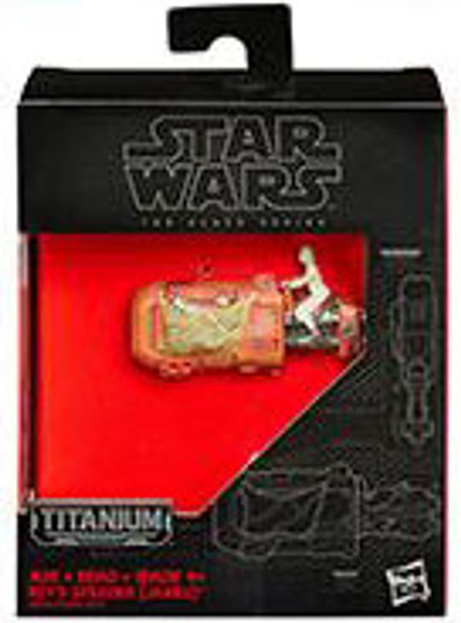 Star Wars The Force Awakens Black Titanium Rey's Speeder 2-Inch Diecast Vehicle