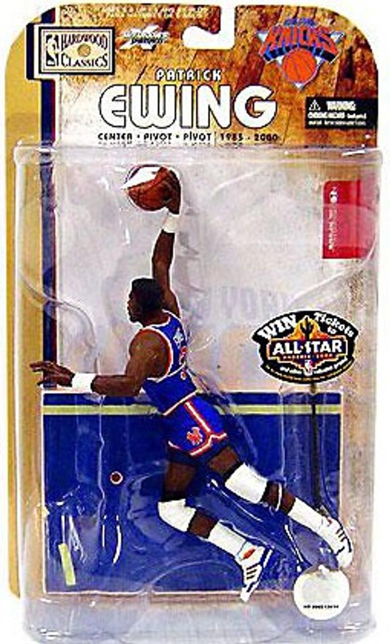 McFarlane Toys NBA New York Knicks Sports Picks Legends Series 4 Patrick Ewing Action Figure [Blue Jersey Variant]