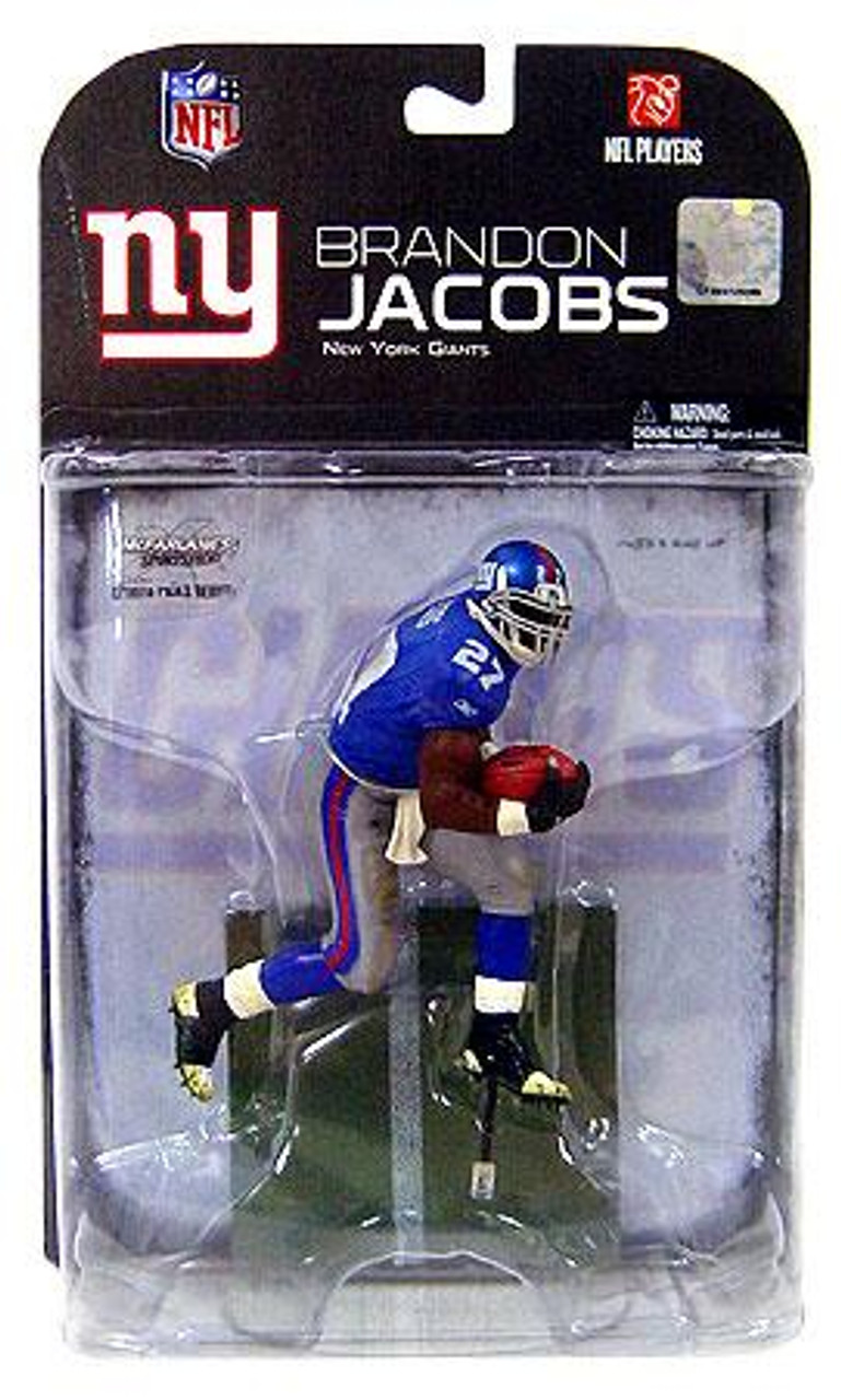 McFarlane Toys NFL New York Giants Sports Picks Series 18 Brandon Jacobs Action Figure [Black Gloves Variant]