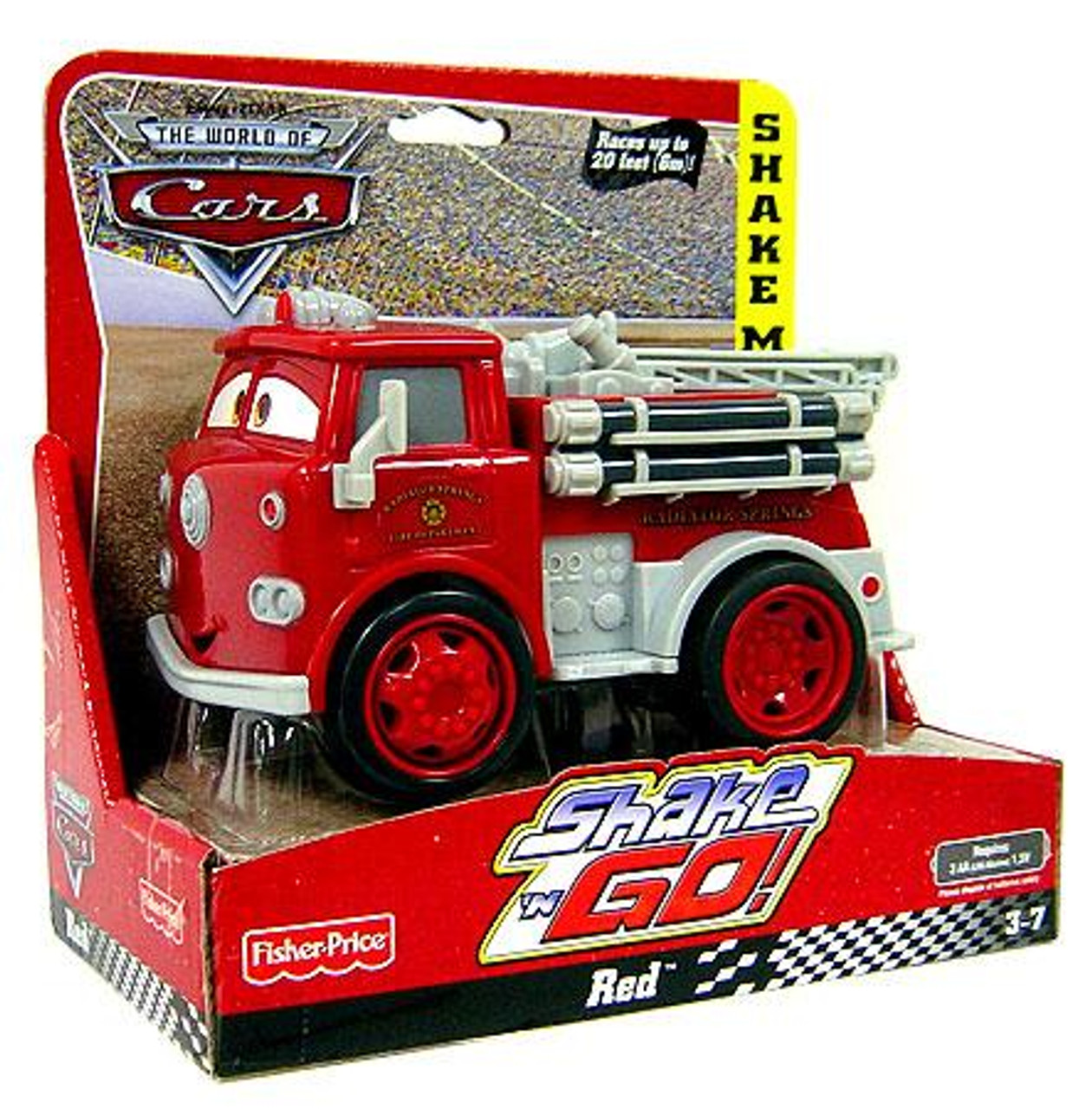 Disney Cars The World of Cars Shake 'N Go Red the Firetruck Shake 'N Go Car