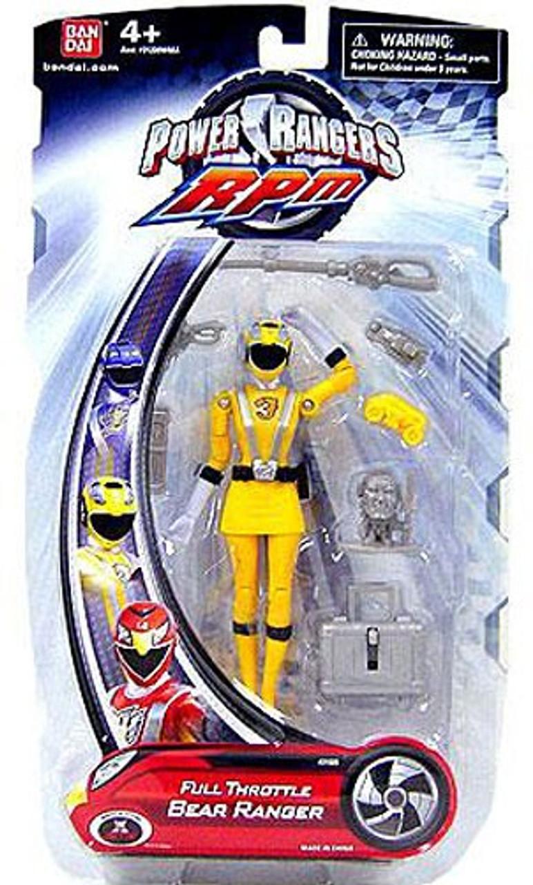 Power Rangers RPM Full Throttle Bear Ranger Action Figure