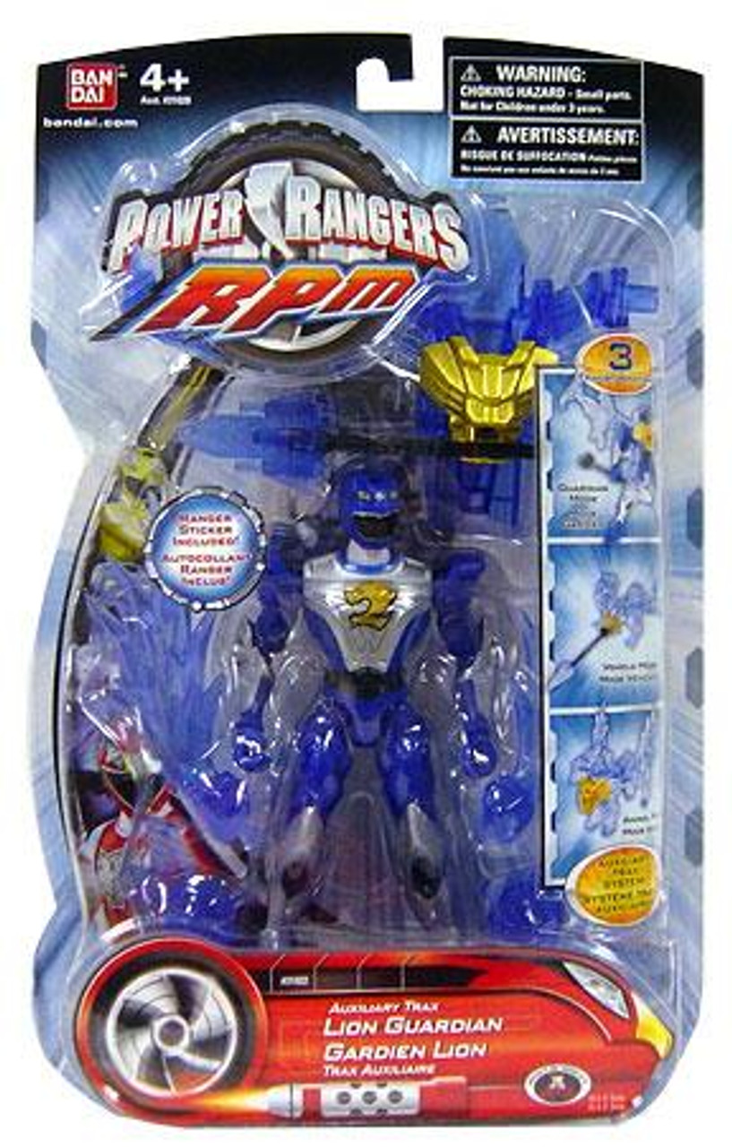 Power Rangers RPM Auxilliary Trax Auxiliary Trax Lion Guardian Action Figure