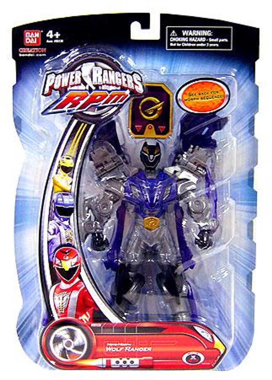 Power Rangers RPM Moto Morph Wolf Ranger Action Figure