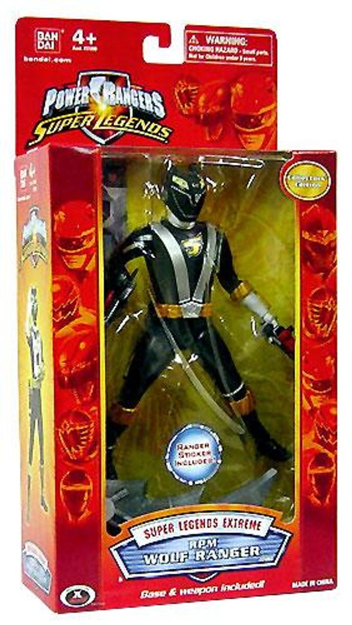Power Rangers Super Legends Exgreme RPM Wolf Ranger Action Figure [Black]