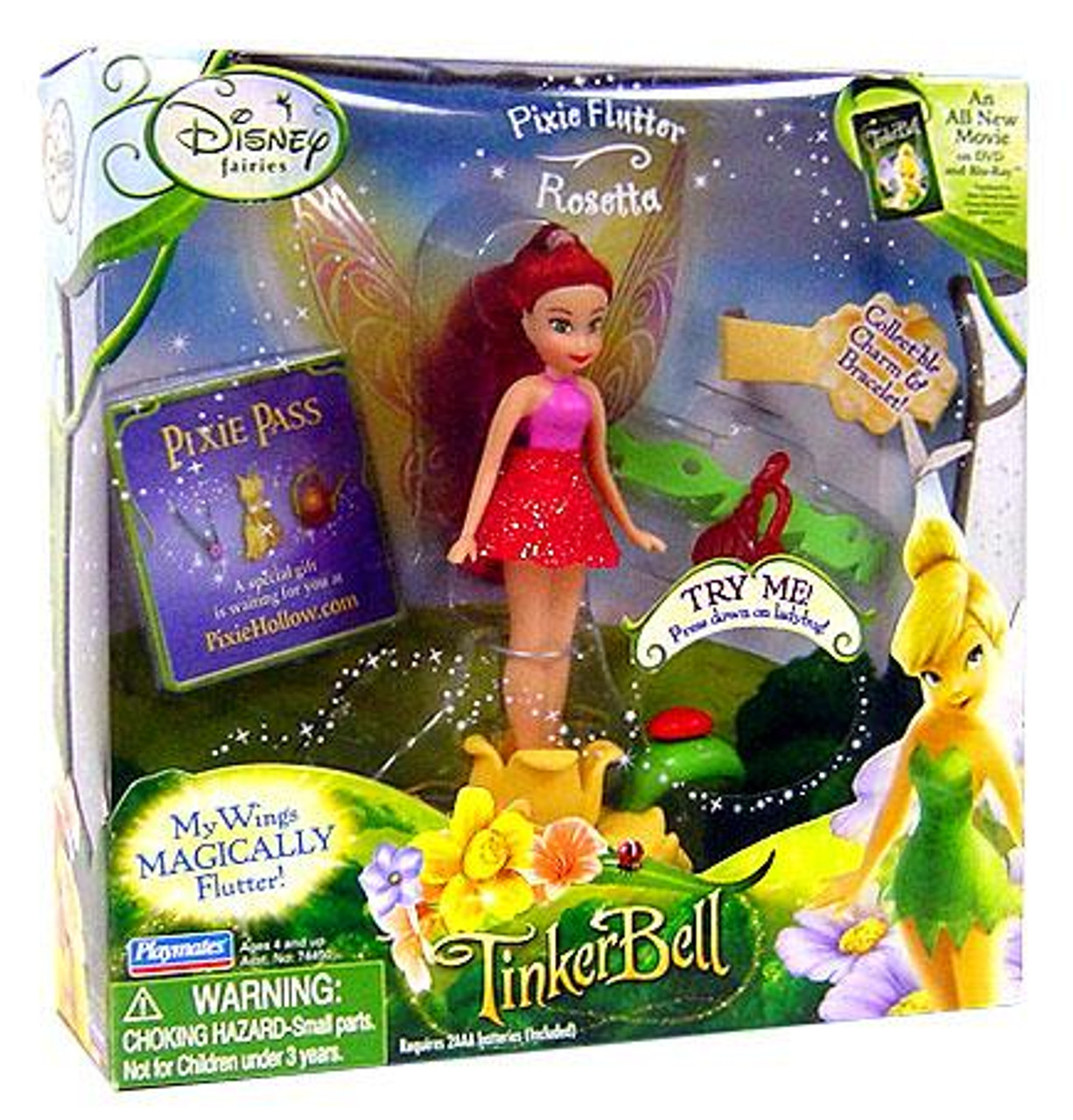Disney Fairies Pixie Flutter Rosetta Figure