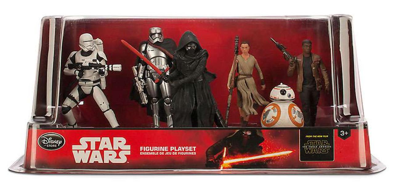 Disney Star Wars The Force Awakens 6-Piece PVC Figure Play Set [Flametrooper, Captain Phasma, Kylo Ren, Rey, BB-8 & Finn]