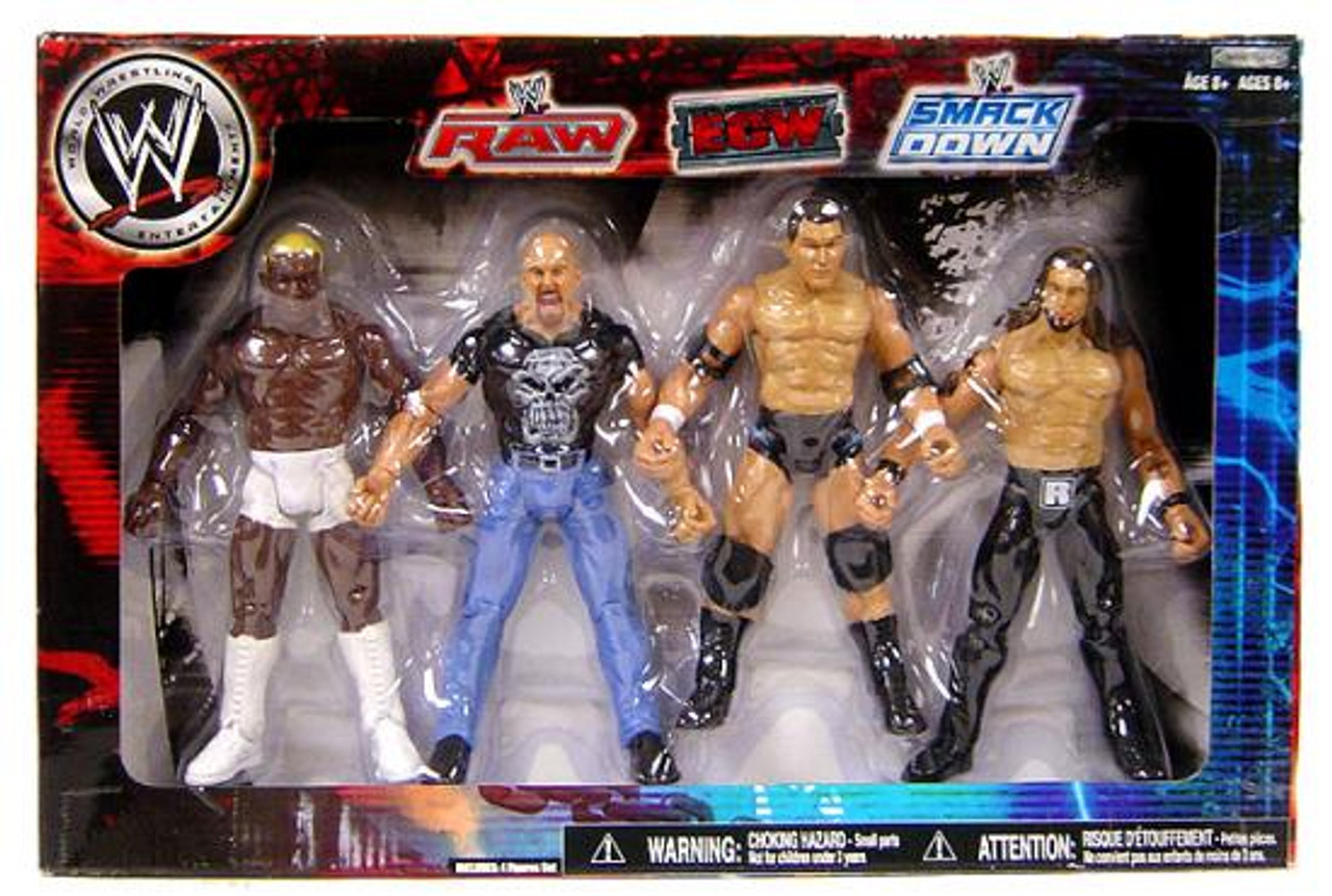 WWE Wrestling Exclusives RAW, ECW & Smackdown Superstars Exclusive Action Figure 4-Pack [Set #2]