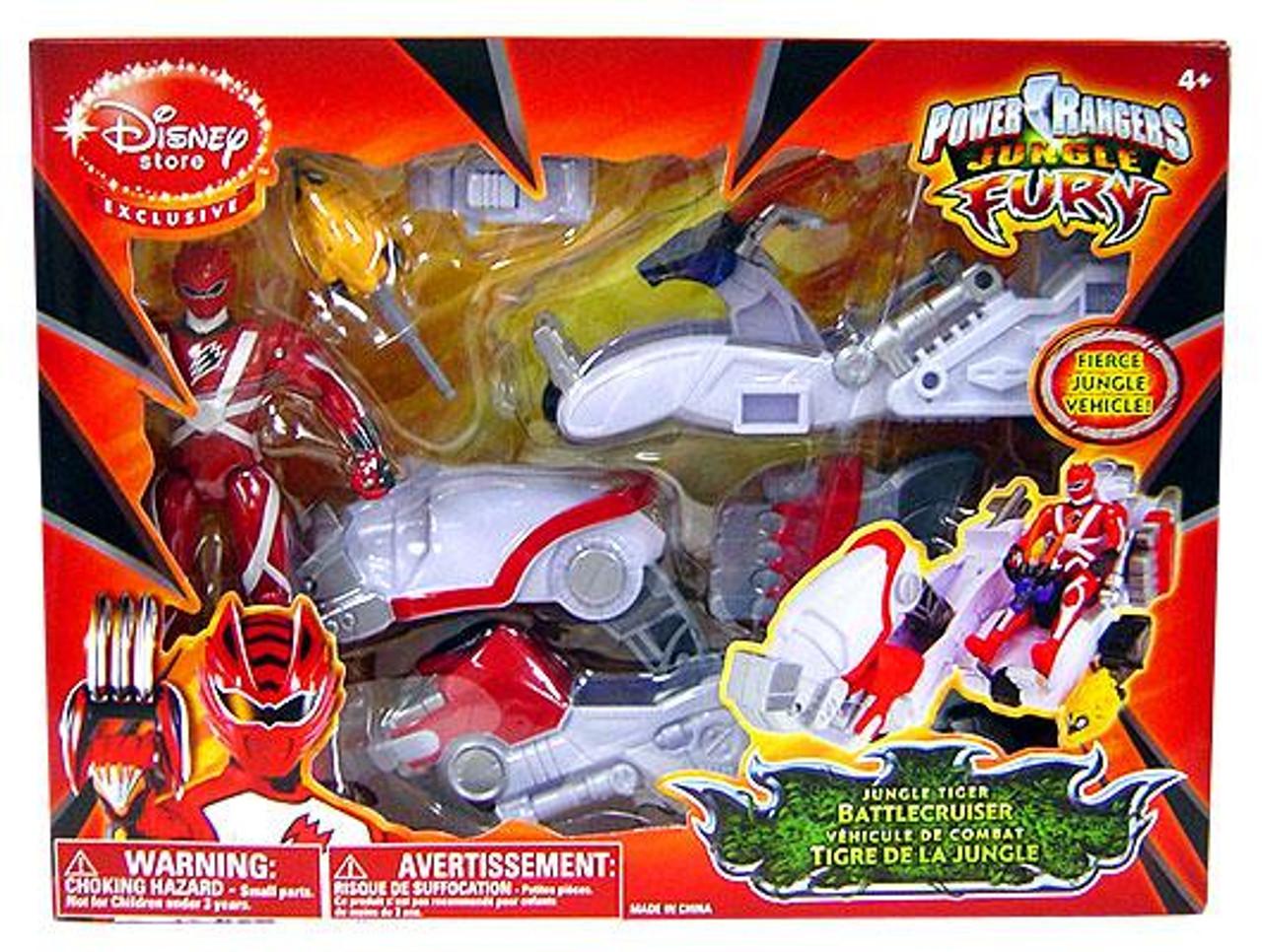 Power Rangers Jungle Fury Jungle Tiger Battlecruiser Exclusive Action Figure Vehicle