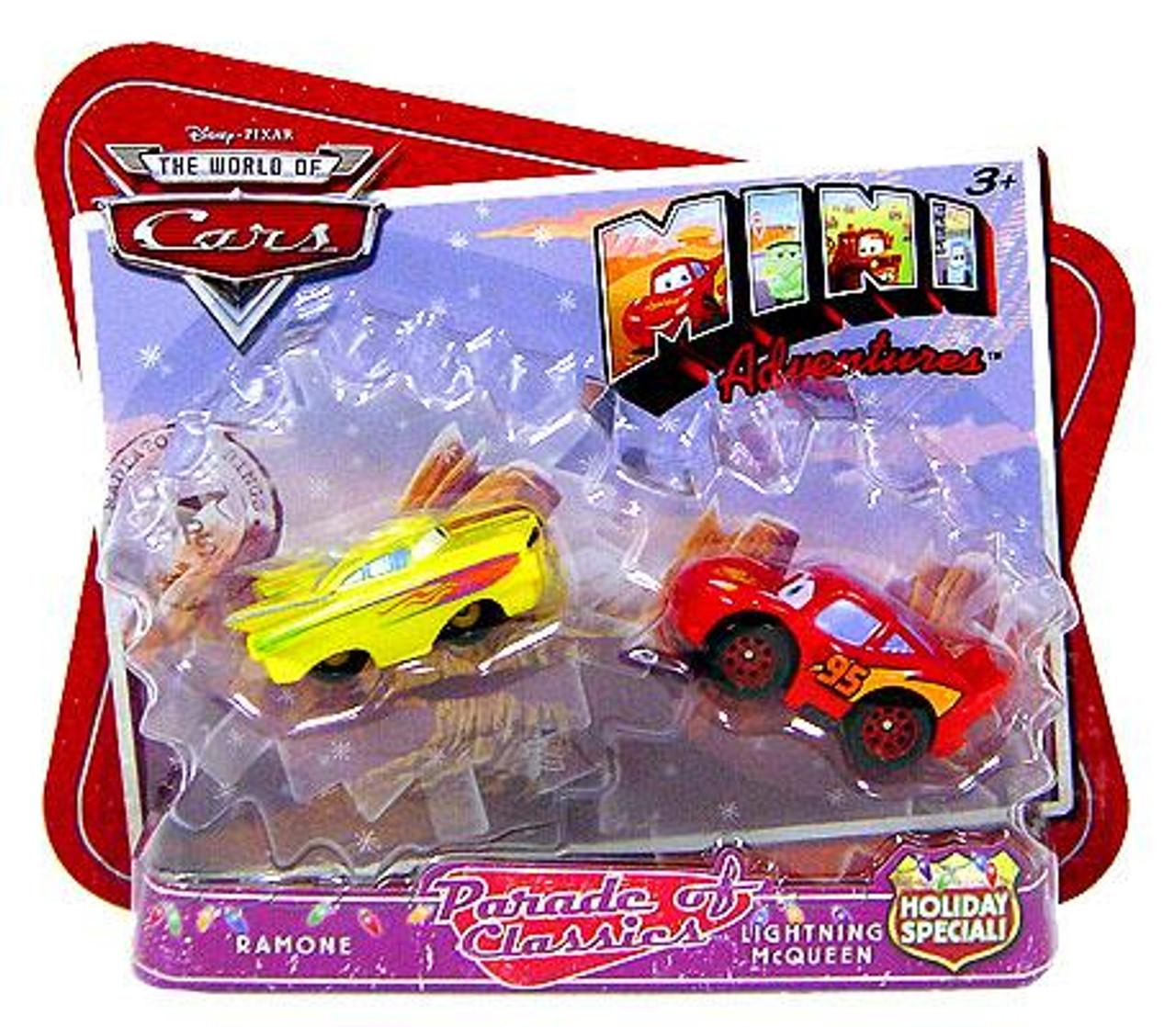 Disney Cars The World of Cars Mini Adventures Parade of Classics Exclusive Plastic Car 2-Pack [Ramone & Lightning McQueen]