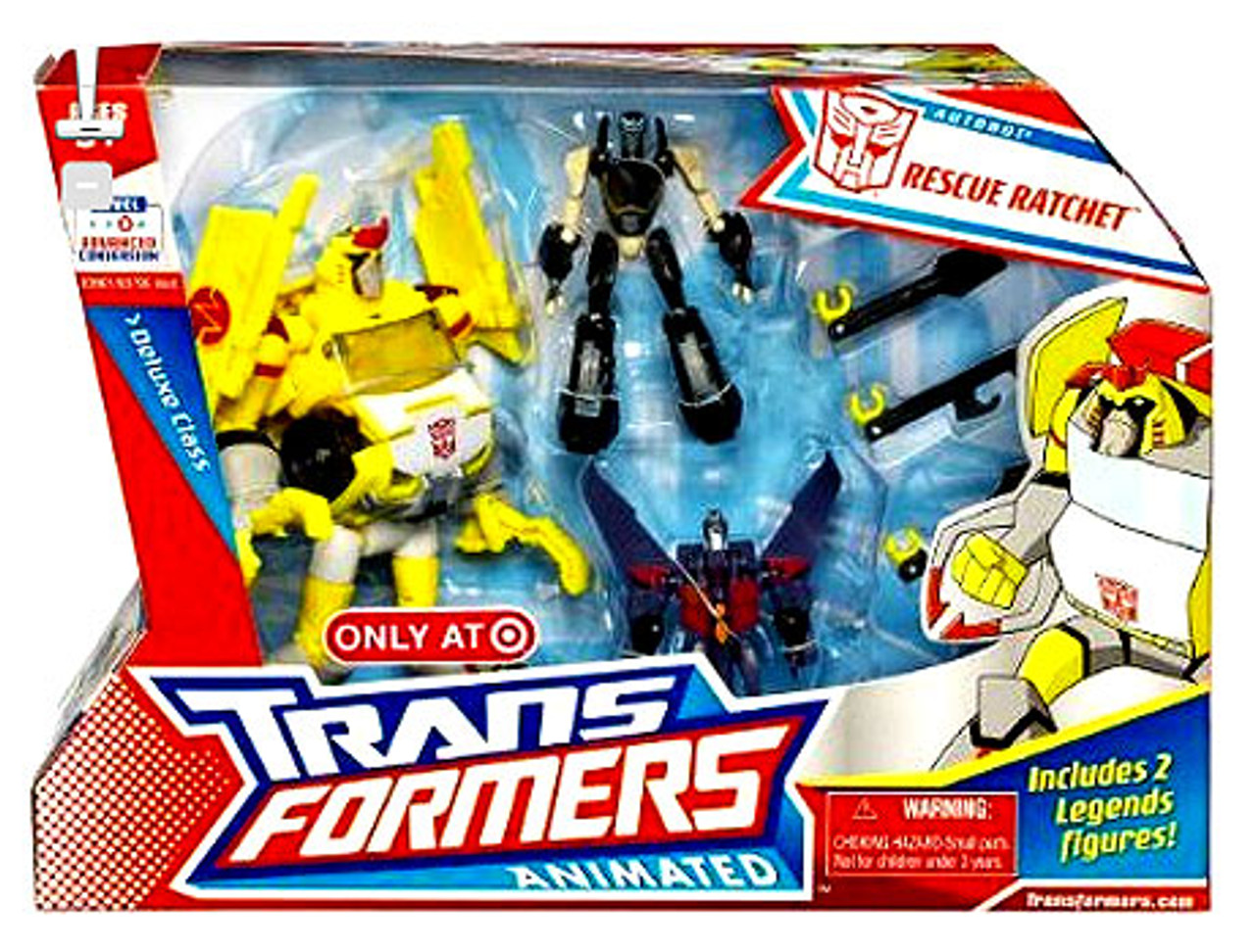 Transformers Animated Deluxe Rescue Ratchet Exclusive Deluxe Action Figure