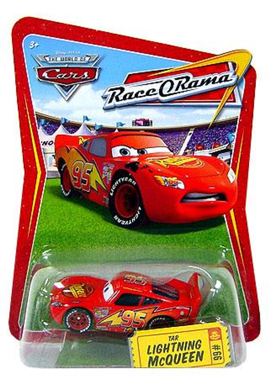 Disney Cars The World of Cars Race-O-Rama Tar Lightning McQueen Diecast Car #66