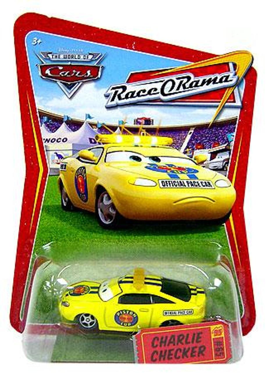 Disney Cars The World of Cars Race-O-Rama Charlie Checker Diecast Car #65