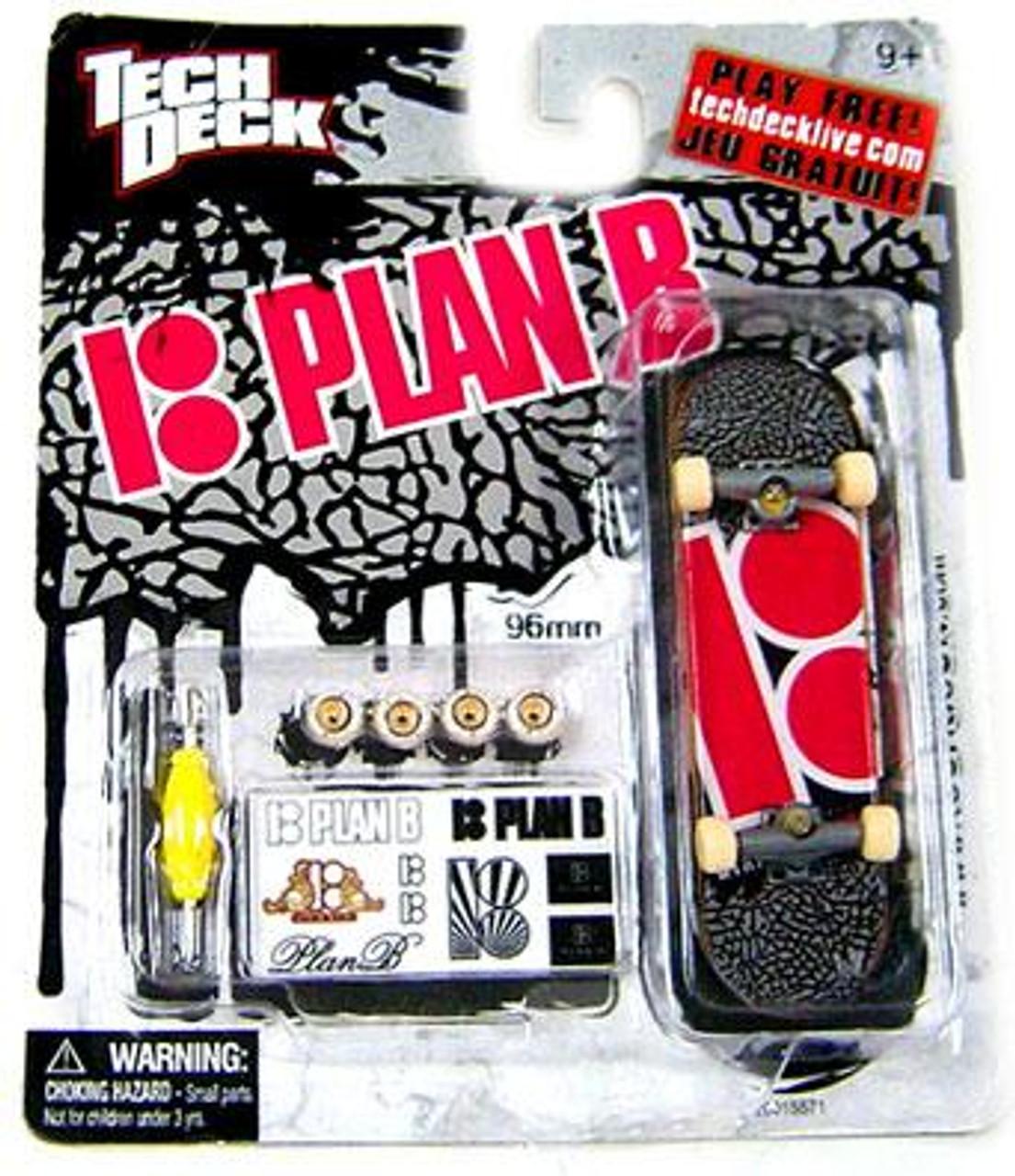 Tech Deck Plan B 96mm Mini Skateboard [Ryan Sheckler Pink Logo]