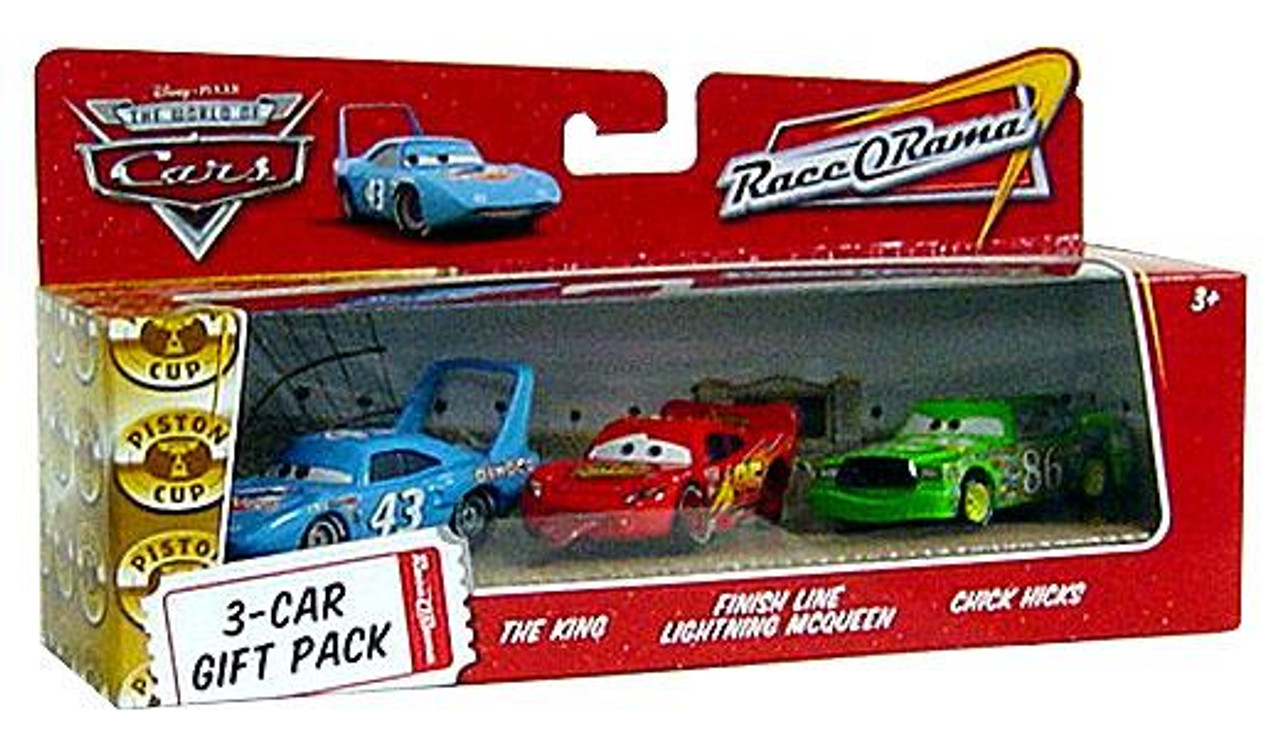 Disney Cars The World of Cars Multi-Packs Finish Line 3-Car Gift Pack Diecast Car Set