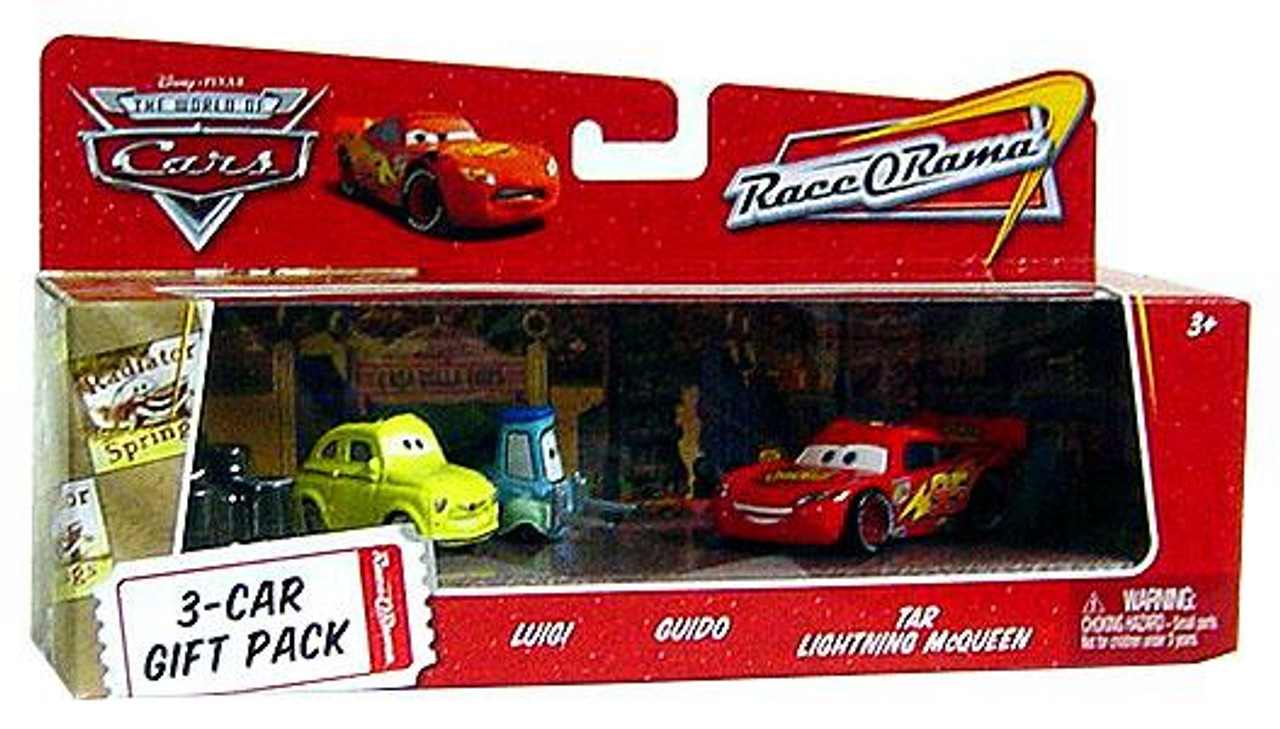 Disney Cars The World of Cars Luigi & Guido 3-Car Gift Pack Diecast Car Set