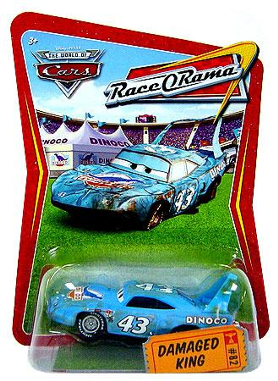 Disney Cars The World of Cars Race-O-Rama Damaged King Diecast Car #82