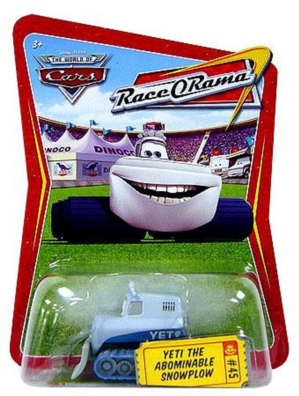 Disney Cars The World of Cars Race-O-Rama Yeti The Abominable Snowplow Diecast Car #45
