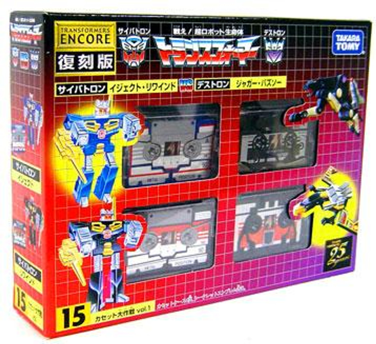 Transformers Japanese Renewal Encore Cassettes Action Figure Set #15 [#15]
