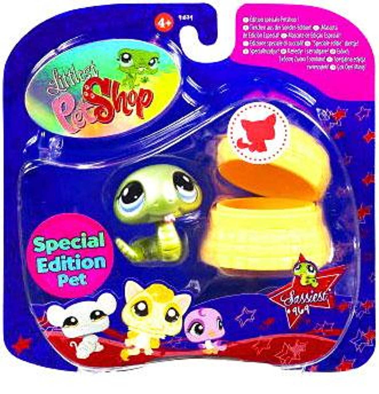 Littlest Pet Shop 2009 Assortment A Series 3 Snake Figure #969 [Basket]
