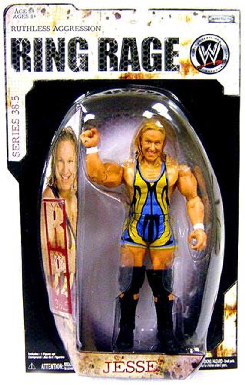 WWE Wrestling Ruthless Aggression Series 38.5 Ring Rage Jesse Action Figure