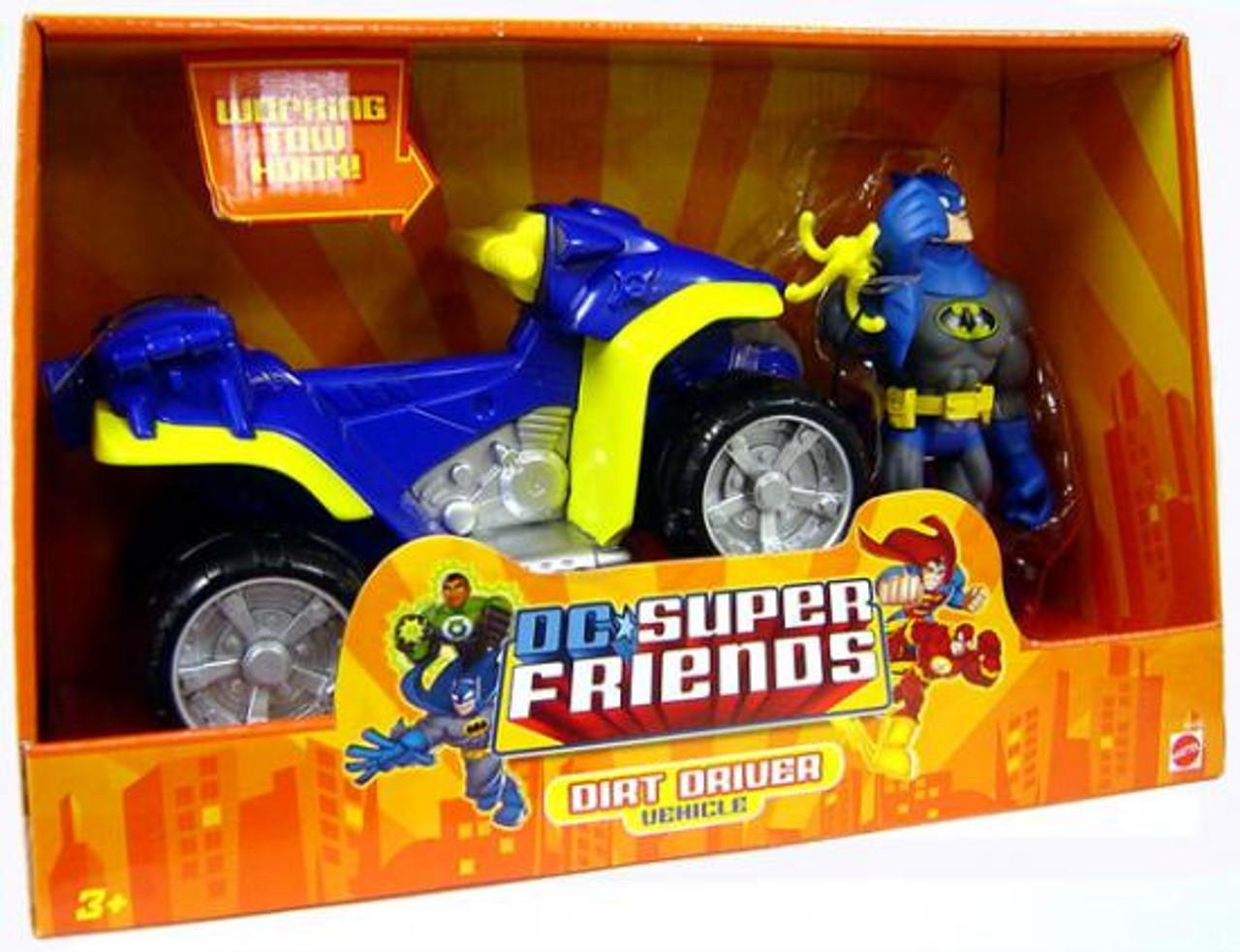 DC Super Friends Batman with Dirt Driver Action Figure Vehicle