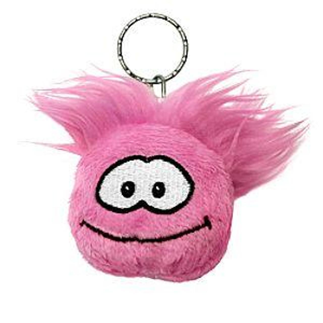 Club Penguin Pink Puffle 2-Inch Plush Keychain