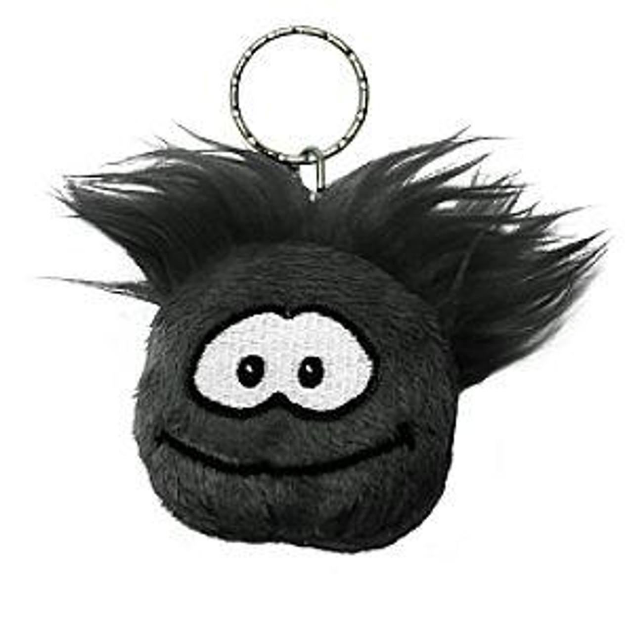 Club Penguin Black Puffle 2-Inch Plush Keychain