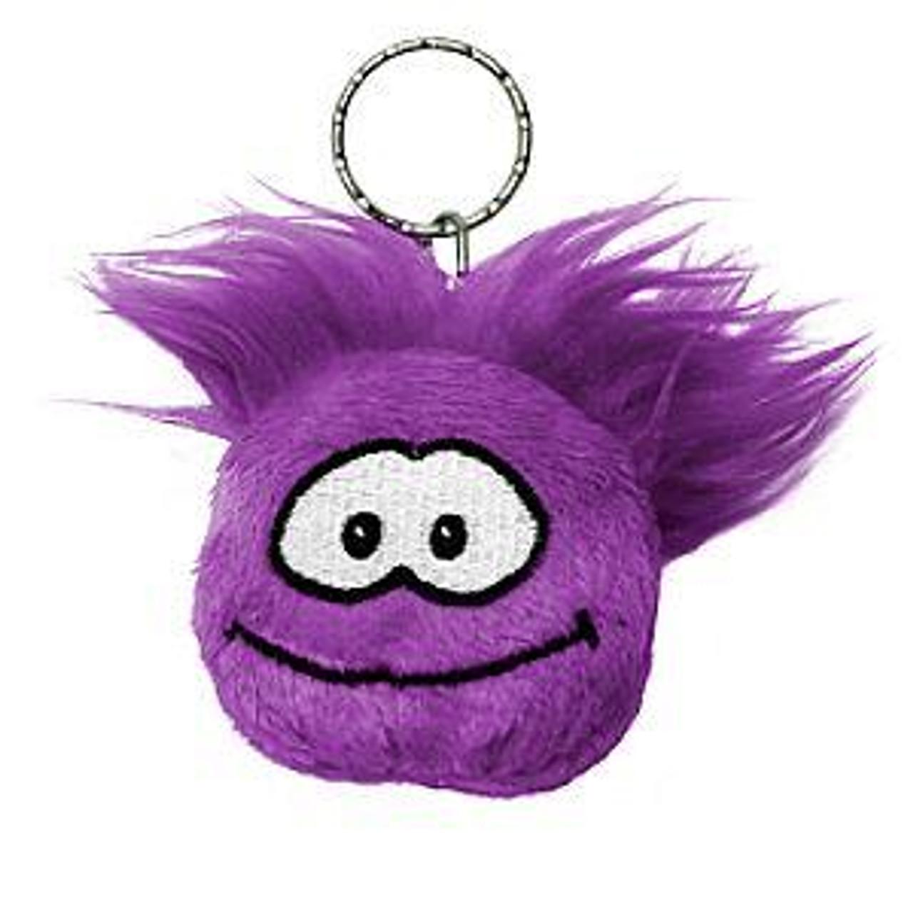 Club Penguin Purple Puffle 2-Inch Plush Keychain