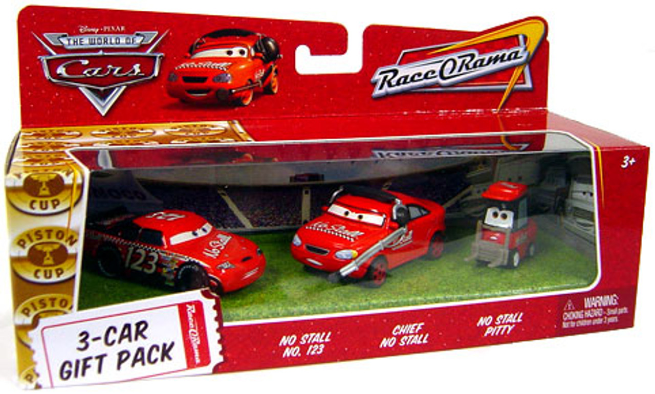 Disney Cars The World of Cars Multi-Packs No Stall 3-Car Gift Pack Diecast Car