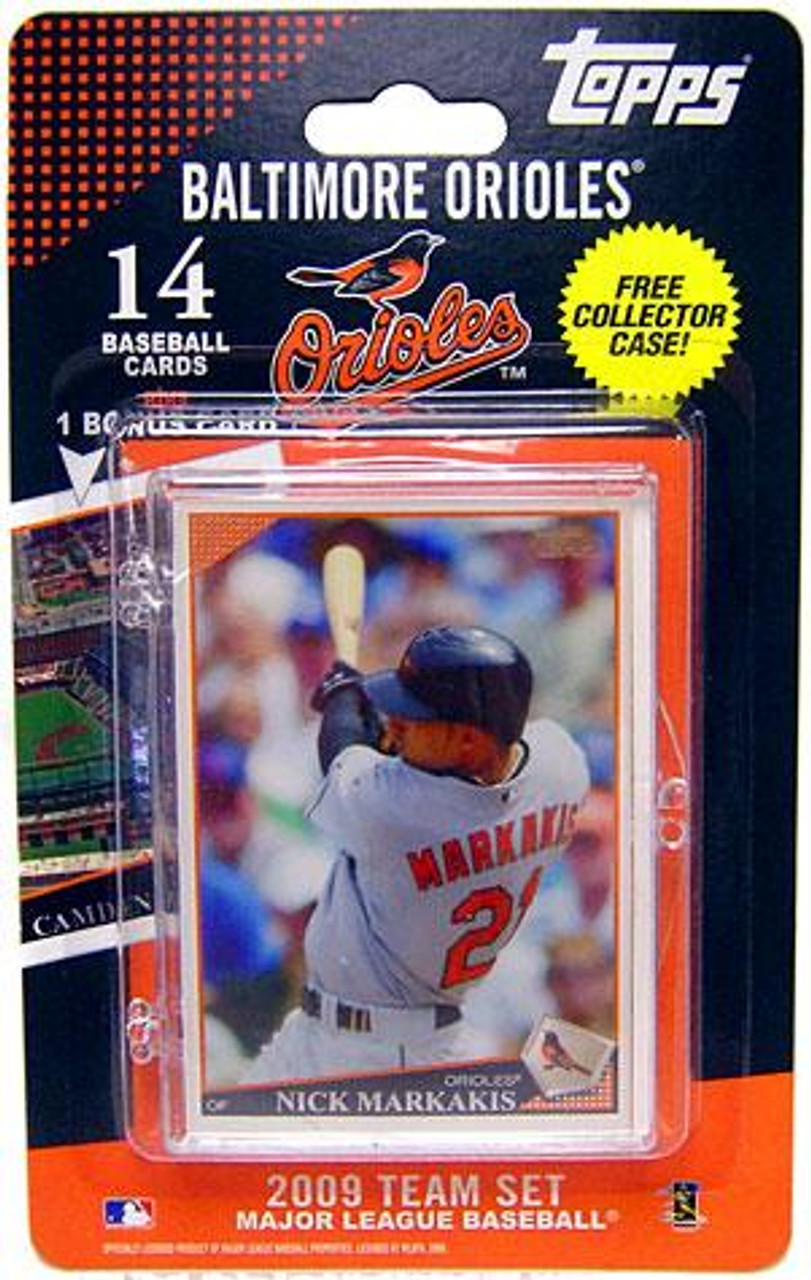 MLB 2009 Topps Baseball Cards Baltimore Orioles Team Set [Includes Oriole Park at Camden Yards Card]