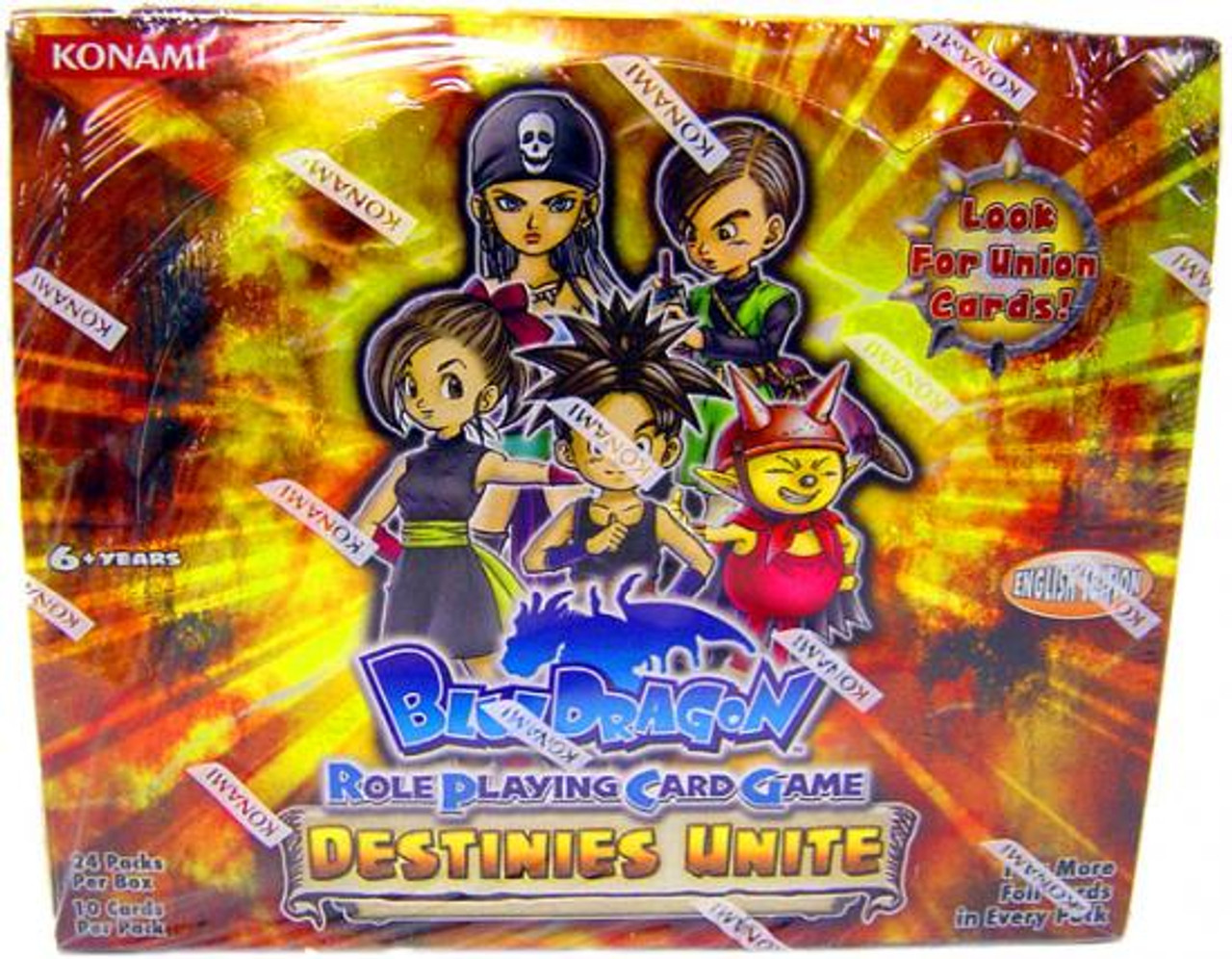 Blue Dragon Roleplaying Card Game Destinies Unite Booster Box
