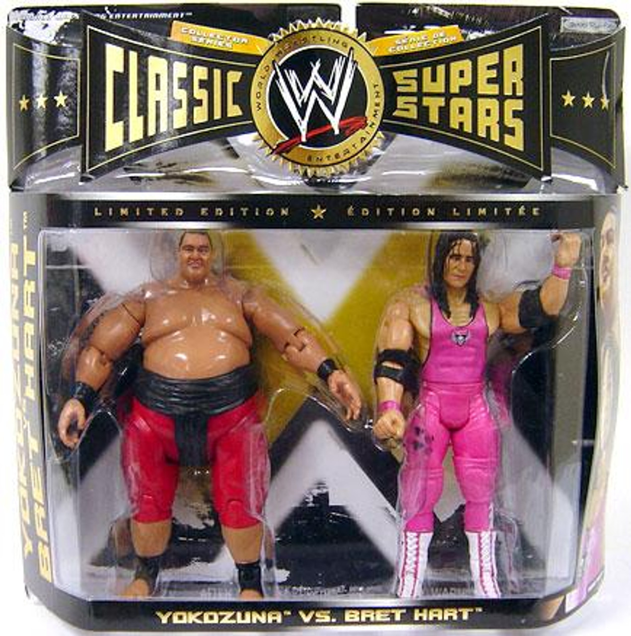WWE Wrestling Classic Superstars Yokozuna vs. Bret Hart Action Figure 2-Pack