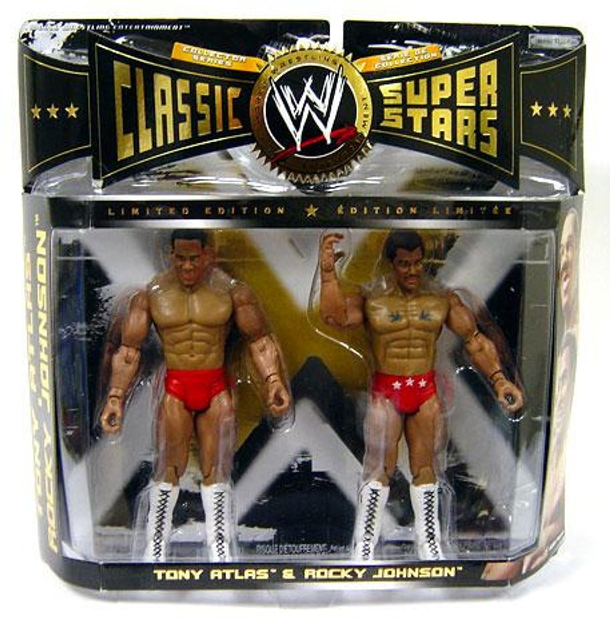 WWE Wrestling Classic Superstars Tony Atlas & Rocky Johnson Action Figure 2-Pack